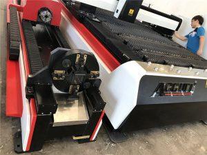 એસ.એસ. પાઈપો 3 ડી લેસર કટીંગ મશીન / 3 અક્ષ ફાઇબર શીટ મેટલ કટર