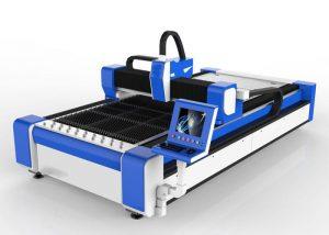 સ્ટેનલેસ સ્ટીલ / એમએસ હાઇ સ્પીડ 100 મી / મિનિટ માટે 500 ડબલ્યુ ફાઇબર લેસર કટીંગ મશીન